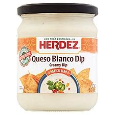 Herdez Dip, Medium Queso Blanco Creamy, 15 Ounce