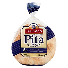Toufayan Bakeries Pita Bread - White, 12 Ounce
