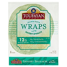 Toufayan Bakeries Spinach Wraps, 10 Ounce