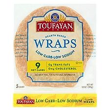 Toufayan Bakeries Low Carb-Low Fat Wraps, 10 Ounce