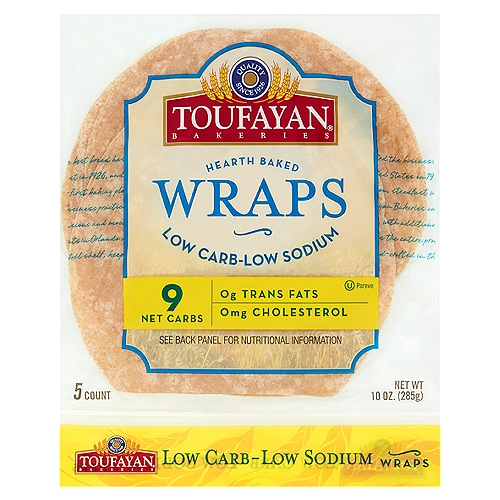 5 ct Thin Pliable, Easy to Roll, Deli Delicious Wraps, Specially Baked to Hold Filling Without Cracking