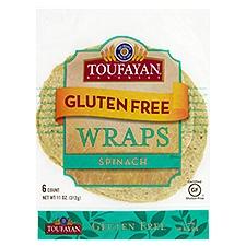 Toufayan Bakeries Gluten Free Wrap Spinach, 11 Ounce