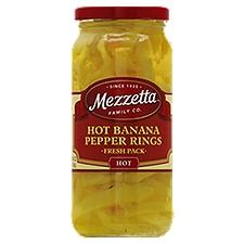 Mezzetta Banana Pepper Rings Hot, 16 Fluid ounce