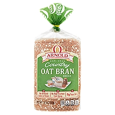 Arnold Country Oat Bran Bread, Hearty Flavor, 24 Ounce