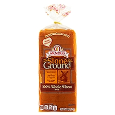 Arnold Stone Ground 100% Whole Wheat Bread, 16 Ounce