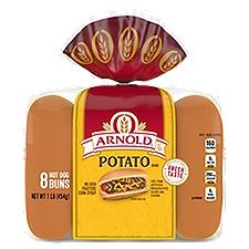 Arnold Select Potato Hot Dog Rolls, 15 Ounce