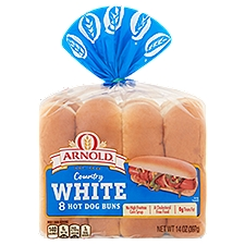Arnold Select Classic Hot Dog Rolls, 14 Ounce