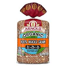 Arnold Organic 100% Whole Grain Bread, 27 Ounce