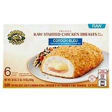 Barber Foods Raw Stuffed Chicken Breasts -  Cordon Bleu, 30 Ounce