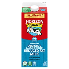 Horizon Organic 2% Reduced Fat Organic Milk, 0.5 Gallon