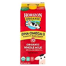 Horizon Organic Vitamin D DHA Omega-3 Organic Whole Milk, 0.5 Gallon