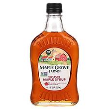 Maple Grove Farms 100% Pure Dark Amber Maple Syrup, 12.5 Fluid ounce