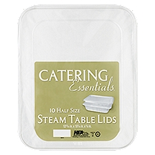Catering Essentials Steam Table Lids, Half Size, 10 Each