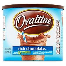 Ovaltine Rich Chocolate Mix, 18 Ounce