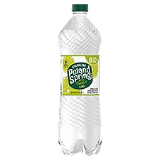Poland Spring Sparkling Natural Spring Water - Lime, 33.8 Fluid ounce