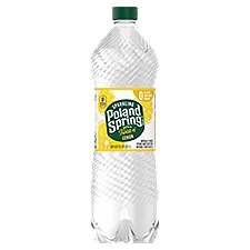 Poland Spring Sparkling Natural Spring Water - Lemon, 33.8 Fluid ounce