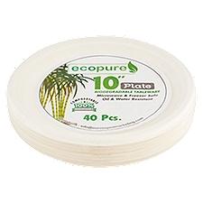 EcoPure Natural's Biodegradable Plates, 40 Each