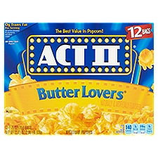 Act II Butter Lovers Popcorn, 33.01 Ounce