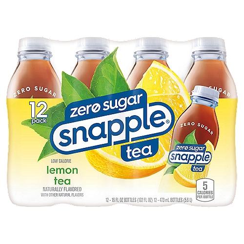 Diet Snapple Low Calorie Lemon Tea, 12 count