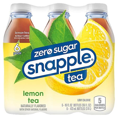 Diet Snapple Low Calorie Lemon Tea, 6 count