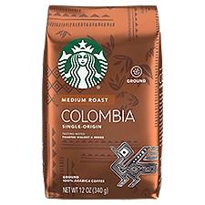 Starbucks Colombia Single-Origin Balanced&Nutty Medium Cofee, 12 Ounce