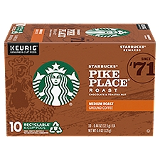 Starbucks Medium Roast Pike Place K-Cup Pods, 4.4 Ounce