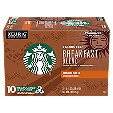 Starbucks Medium Roast Breakfast Blend K-Cup Pods, 4.4 Ounce