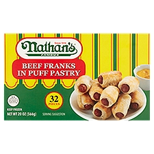 Nathan's Famous Beef Franks in Puff Pastry, 32 ct, 20 Ounce