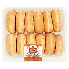 Fresh Bake Shop Glazed Donuts - 12 ct, 24 Ounce
