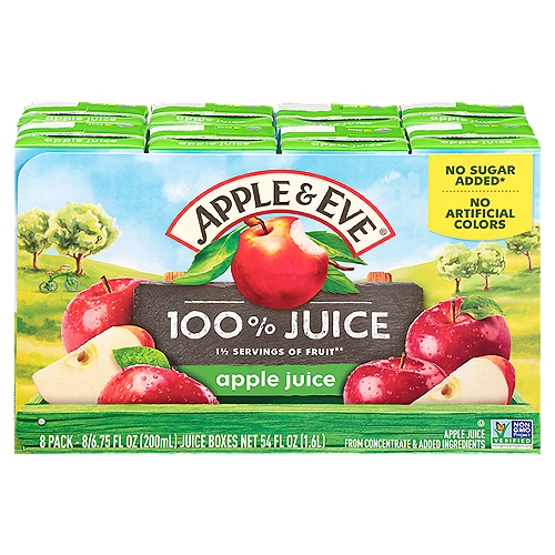 From concentrate. No Sugar Added 8 - 6.75 fl oz boxes