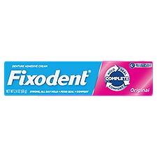 Fixodent Complete Original Denture Adhesive Cream, 2.4 Ounce