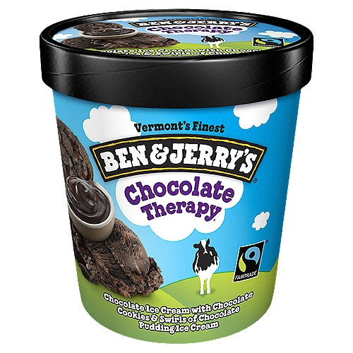 Rich and creamy chocolate ice cream with chunks of chocolate cookies and swirls of chocolate pudding ice cream. This beyond euphoric flavor is just the cure you've been craving!