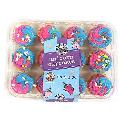 Two-Bite Original Unicorn Cupcakes, 10 oz