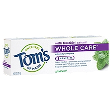Tom's of Maine Anticavity Toothpaste Spearmint, 4 Ounce