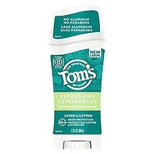 Tom's of Maine Deodorant, Long Lasting Refreshing Lemongrass, 2.25 Ounce