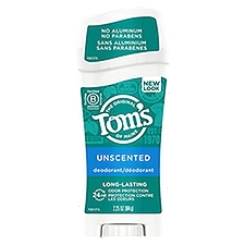 Tom's of Maine Deodorant Stick - Unscented, 2.25 Ounce