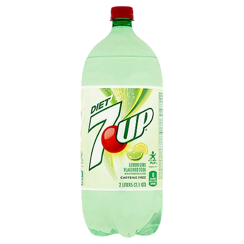 One 2 liter bottle of 7 UP Zero