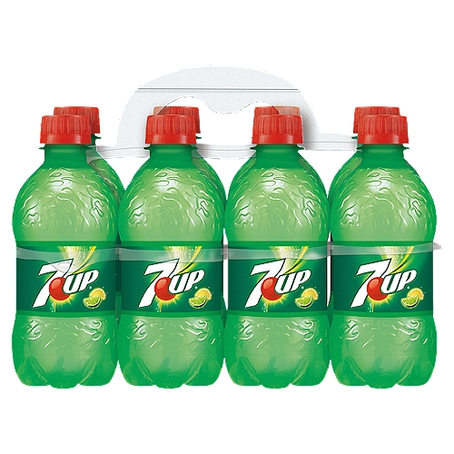 7UP - One 8-pack of 12 fluid ounce bottles