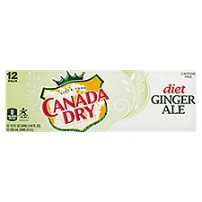 Canada Dry Diet Ginger Ale - 12 Pack Cans, 144 Fluid ounce