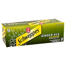 Schweppes Ginger Ale - 12 Pack Cans, 144 Fluid ounce