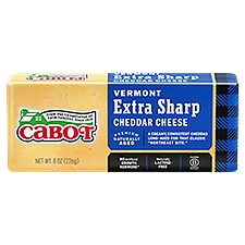 Cabot Extra Sharp Yellow Cheddar Cheese, 8 Ounce