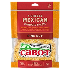 Cabot 4 Cheese Mexican Shreds, 8 Ounce