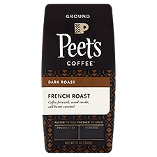 Peet's Coffee & Tea Ground Coffee - French Roast, Fresh Roasted, 12 Ounce