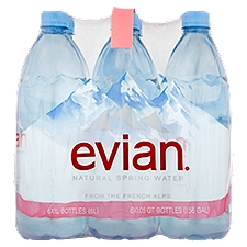 Evian Natural Spring Water, 6.32 Each