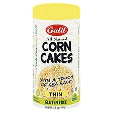 Galil Gluten Free Thin Corn Cakes with Sea Salt, 3.5 Ounce