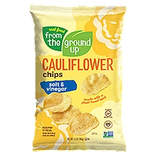 Real Food From The Ground Up Chips, Salt & Vinegar Cauliflower, 3.5 Ounce
