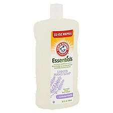 Arm & Hammer Essentials Liquid Hand Soap Refill Lavender Vanilla, 32 Fluid ounce