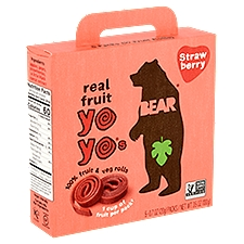 Bear Real Fruit Yoyos - Strawberry, 5 Ounce