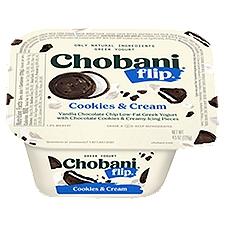 Chobani Flip Cookies & Cream Low-Fat Greek Yogurt, 5.3 Ounce