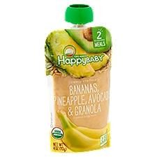Happy Baby Organics Stage 2 - Banana, Pineapple, Avocado & Granola, 4 Ounce